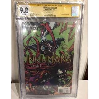 CGC SS 9.8 Inhumans Prime #1 Venomized Variant Signed by Ryan Stegman
