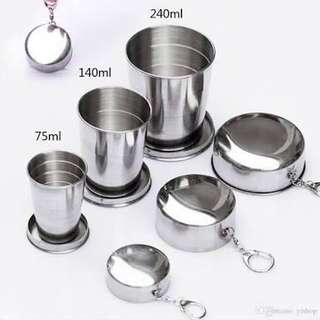 Collapsible/Foldable/Retractable Stainless Cups