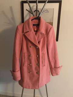 Warehouse pink coral pea coat 8
