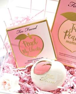 Too faced peach my cheeks melting powder blush