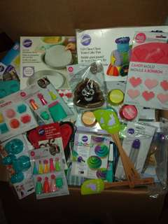 assorted baking products