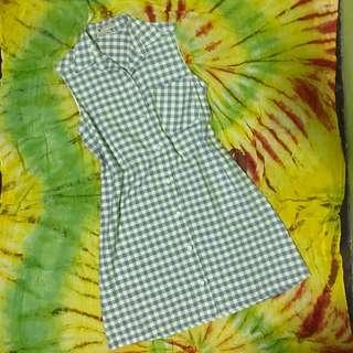 Blue Checked Dress