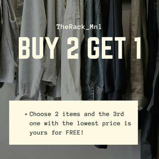 Buy 2,Get 1 for free