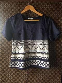 Folded & hung elegant blouse