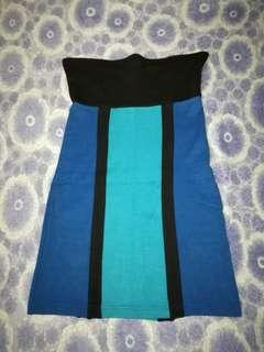 Forever 21 clorblock strapless dress
