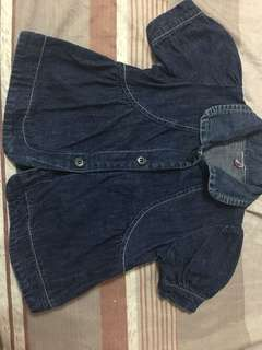 Denim / Maong blouse perfect fit for 1-3 year old kids