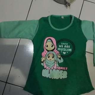 Kaos hijab anak