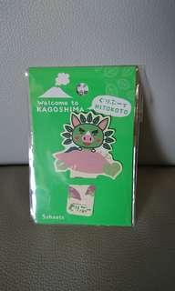 全新 日本鹿兒島書簽 Kagoshima bookmark,-包5張連得意貼紙