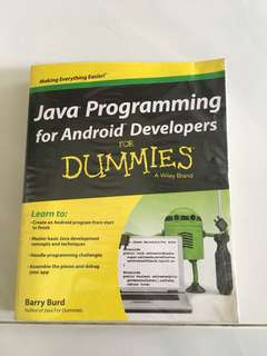 Java programming for Android Developers (for Dummies)