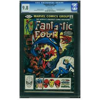Marvel Comics Fantastic Four #242 CGC 9.8 White Pages John Byrne Copper Age Classic