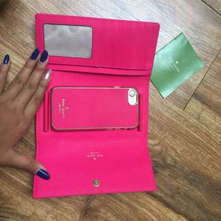 Kate Spade wallet with magnetic iphone 7 casing