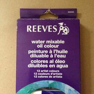 Reeves water mixable oil paint