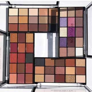 Makeup Revolution NEW re-loaded iconic eyeshadow palettes - velvet rose, newtrals 3, visionary and basic mattes reloaded