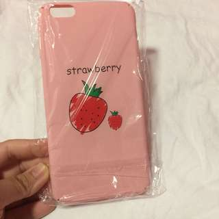 🌻BRANDNEW🌻Iphone 6+ Iphone 6s+ Iphone 6 plus Cute Pink Strawberry Matte Hard Case