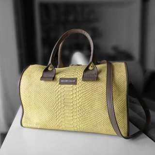 Authentic Chloe See By Chloe Yellow Embossed Leather April Duffel
