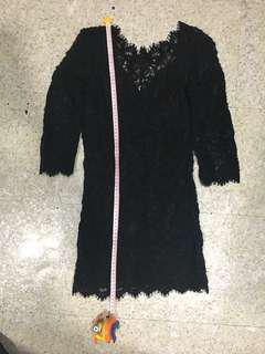 Black lace dress (fits xxs/petite)