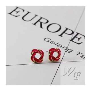 Drop glaze earrings FE964