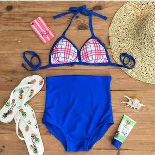 Square blue bikini