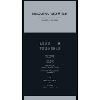 PRE ORDER BTS LOVE YOURSELF TEAR