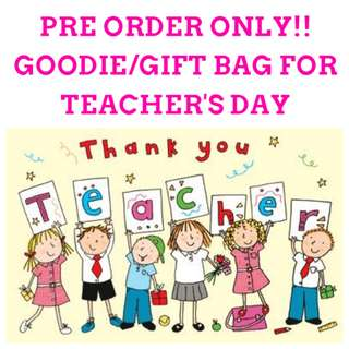 1for$1.20 12for$14 Happy Teacher's Day Goodie Bag or Gift Bag
