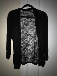 Black laced cardigan