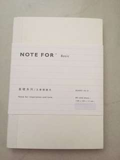 🚚 [INSTOCKS] Plain White single lined Notebook