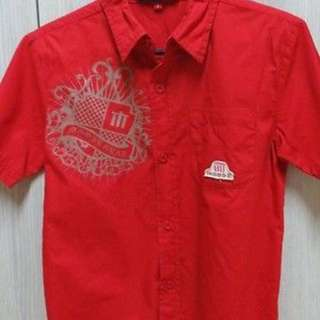 PRE-LOVED MOOSE KIDS BOYS RED POLO SIZE 8