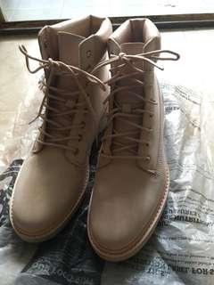 全新 💓37.5-Timberland pink 高筒綁帶boot
