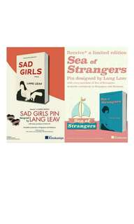 Lang Leav - Sea of Strangers and Sad Girls Books + Limited Edition Pins