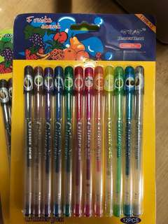Glitter pens sealed in box