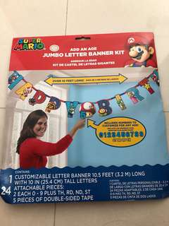 🚚 Super Mario jumbo letter banner kit