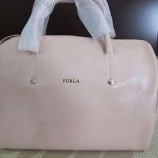 FURLA LEATHER ALISSA SATCHEL PATENT PINK BAG BRAND NEW AUTHENTIC