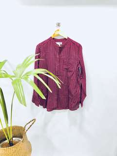 Old Navy Maroon Striped Tunic - Preloved, Excellent Condition