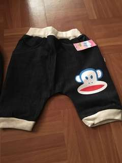 🚚 童裝-牛仔短褲(5分褲)L