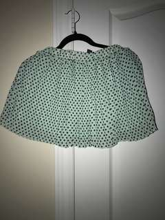 (REDUCED) Mint pleated skirt