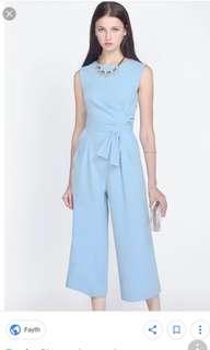 Fayth bnwt sienna jumpsuit in pastel blue size s