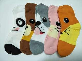 🚚 卡通造型襪,五雙一組