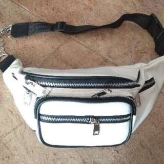 Waistbag Slingbag White Import Ready