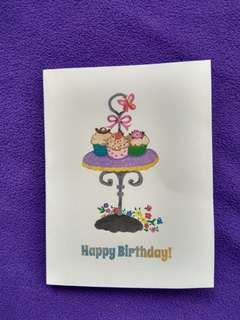 Cupcakes Birthday Card