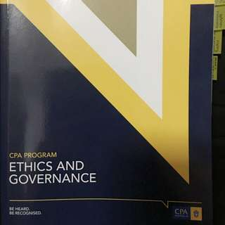 CPA Australia Version 16a Ethics and Governance