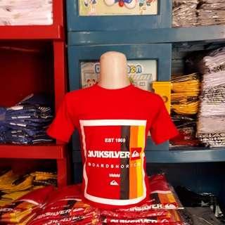 Kaos anak quiksilver red