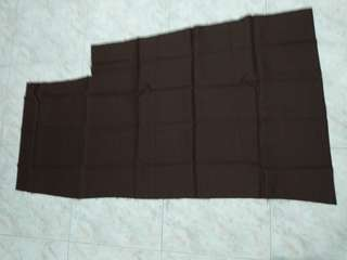 Brown fabric with cut out