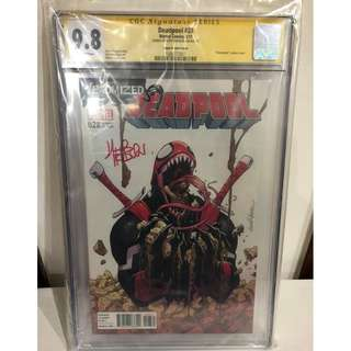 CGC SS 9.8 Deadpool #28 Venomized Variant Signed by Scott Hepburn