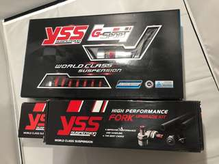 Xmax 300 YSS front & rear suspension kit