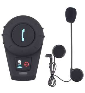(182) FreedConn FDCVB Helmet Bluetooth Headset Intercom for Motorcycle Skiing Communication Systems(Range-500M/2-3Riders Pairing/Black)