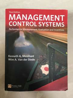 Management Control Systems. Third edition