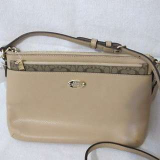 COACH LIGHT POP CROSSBODY LEATHER BEIGE BAG BRAND NEW AUTHENTIC