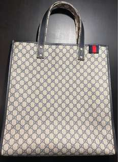 Gucci PVC tote bag (blue) vintage