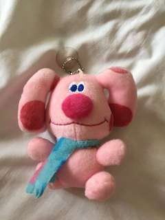 Pink Blue's Clues keychain/toy