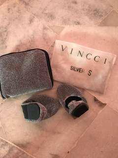vincci silver foldable comfort shoes